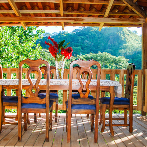 Wilderness ride in Costa Rica. Riding Holidays with In The Saddle. Outside dining.