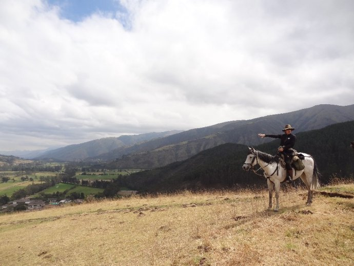Riding in Zuleta Valley Ecuador