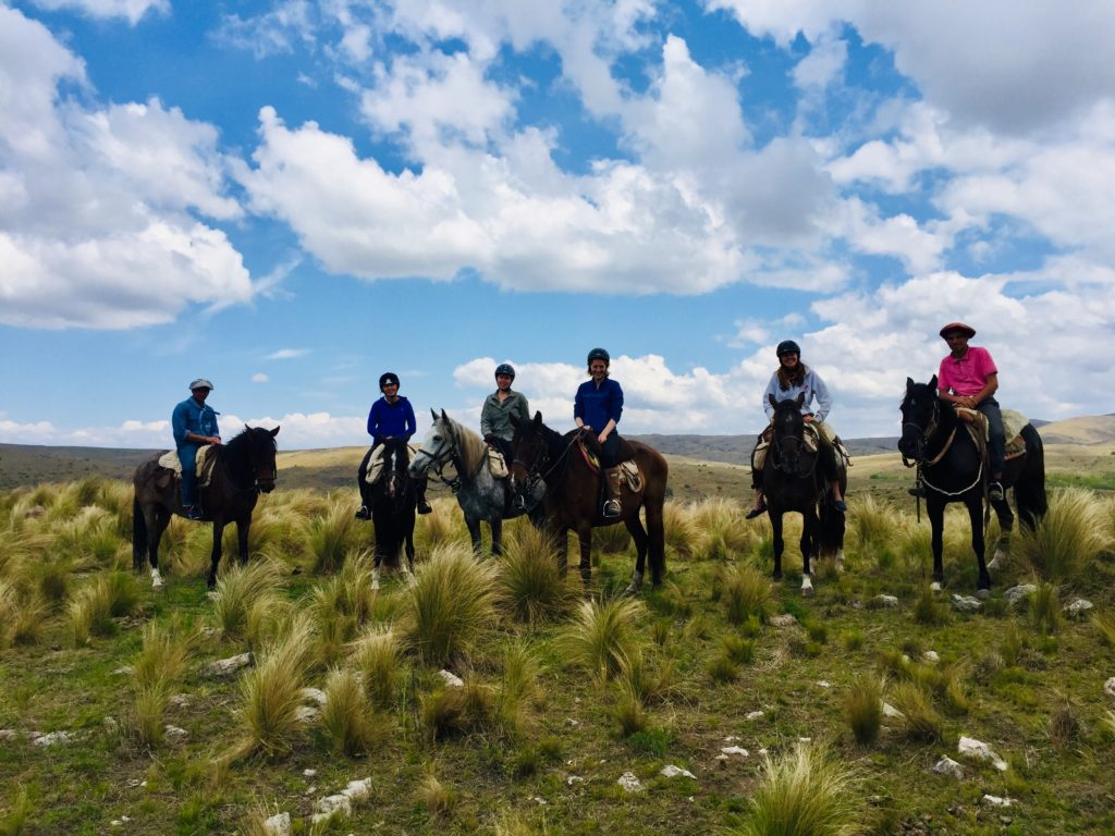 Riding Horses at Los Potreros, Argentina