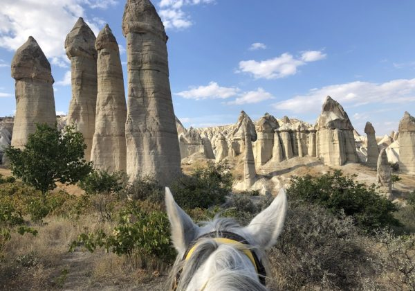 fairy chimneys on horseback