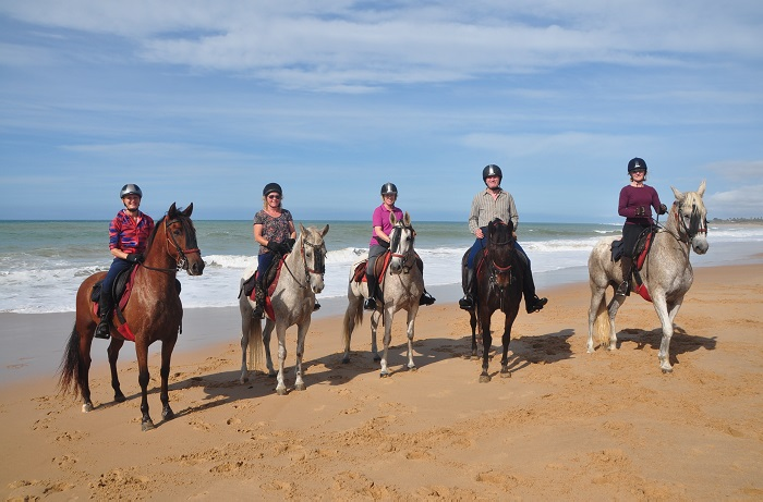 who goes on a riding holiday, horses beach riding group
