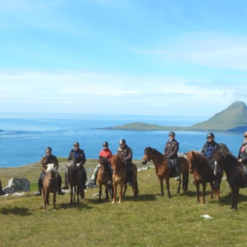 Horse riding on Stremoy in the Faroe Islands
